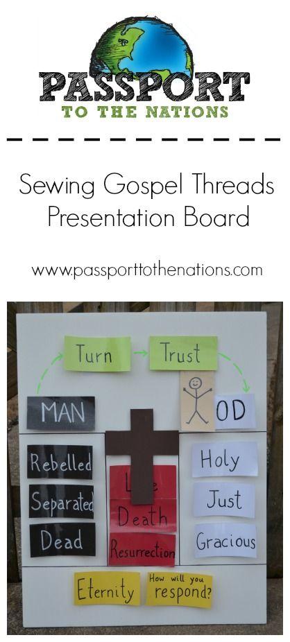 Gospel Threads Presentation Board - back yard Bible club ...