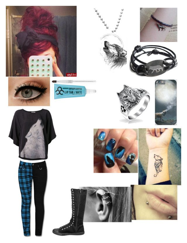 """Wolf"" by makayla-posey ❤ liked on Polyvore featuring Closed, Bling Jewelry, Kain and Obsessive Compulsive Cosmetics"