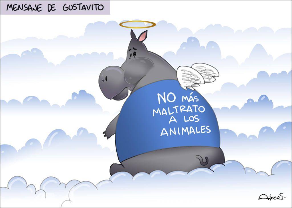 Caricatura Alecus, Mensaje de Gustavito