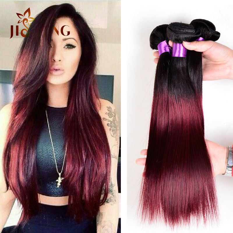 Ombre 1b burgundy straight hair you are what you are the best hair loss solutioingenieria Images