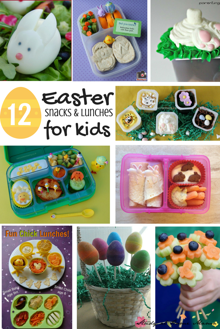 12 Easter Snacks Lunches For Kids