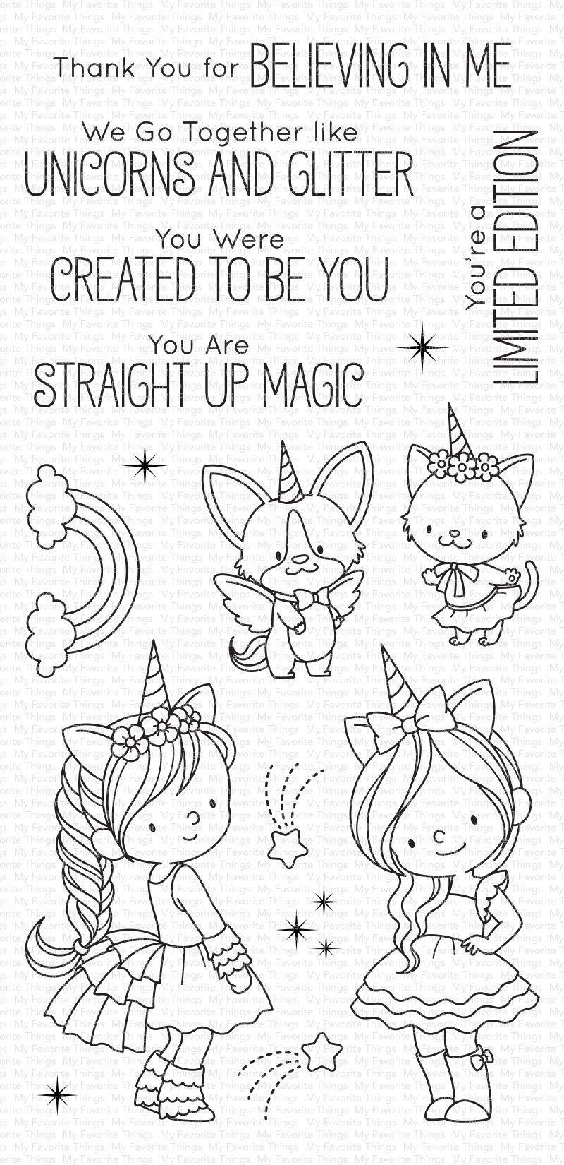 The Magic Begins NOW — the March Release Countdown Has Begun! ✨ - Unicorn and glitter, Stamp, Mft stamps, Paw print background, Unicorn, Digital stamps - We've got some magical stuff in store for you this month — you don't want to miss a single day of this countdown! We're kicking