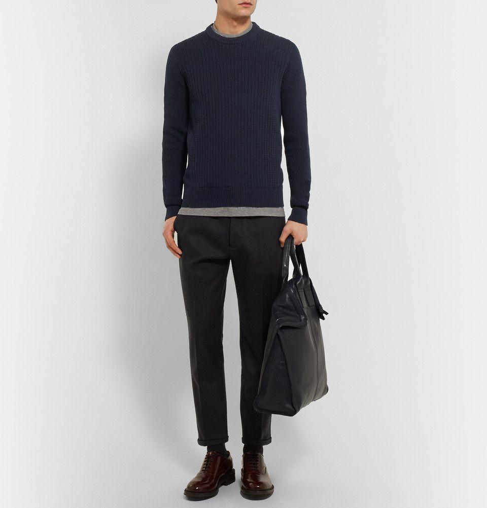 Lanvin - Ribbed-Knit Cotton Sweater|MR PORTER