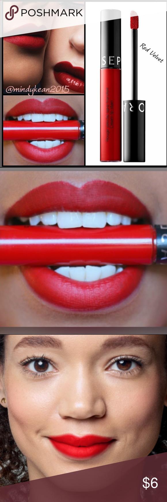 Photo of Sephora Red Velvet velour liquid lipstick New Authentic  Deluxe travel   This be…