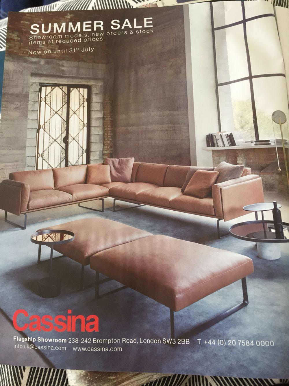 Cassina Leather Sofa 202 Otto I Believe