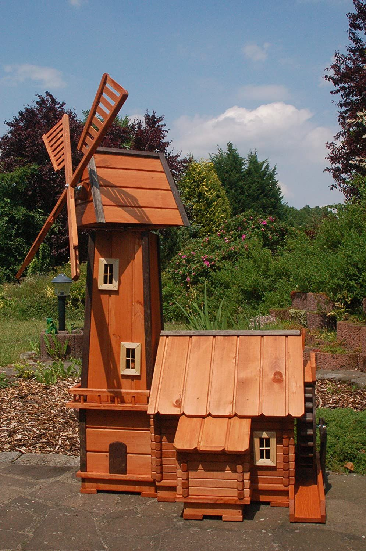 Windmuhle Mit Integrierter Wassermuhle Kugelgelagert Amazon De Garten Windmuhle Gartenwindmuhle Kugel