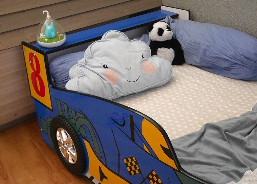 Sur le blog je vous parle de ce lit voiture pas cher et absolument génial que j'ai acheté pour mon fils. Pour une chambre voiture ce lit est parfait et pour un premier lit de grand il est idéal grâce à sa barrière de sécurité intégrée. Retrouvez les photographies et mon avis sur le blog, mais aussi le lien vers lequel commander le lit s'il vous intéresse. Il existe en bleu et en rouge pour s'adapter à vos chambres.  #LitVoiture #Chambrevoiture