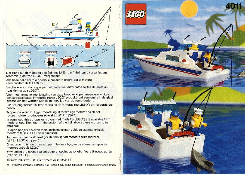 Boats - Cabin Cruiser [Lego 4011] ------ Sadly, I think the boat ...