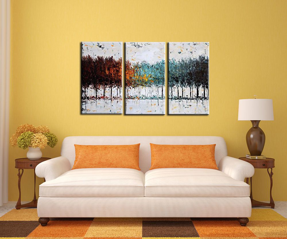 Wall art Household goods Manual Composition of 3 paintings bottom ...