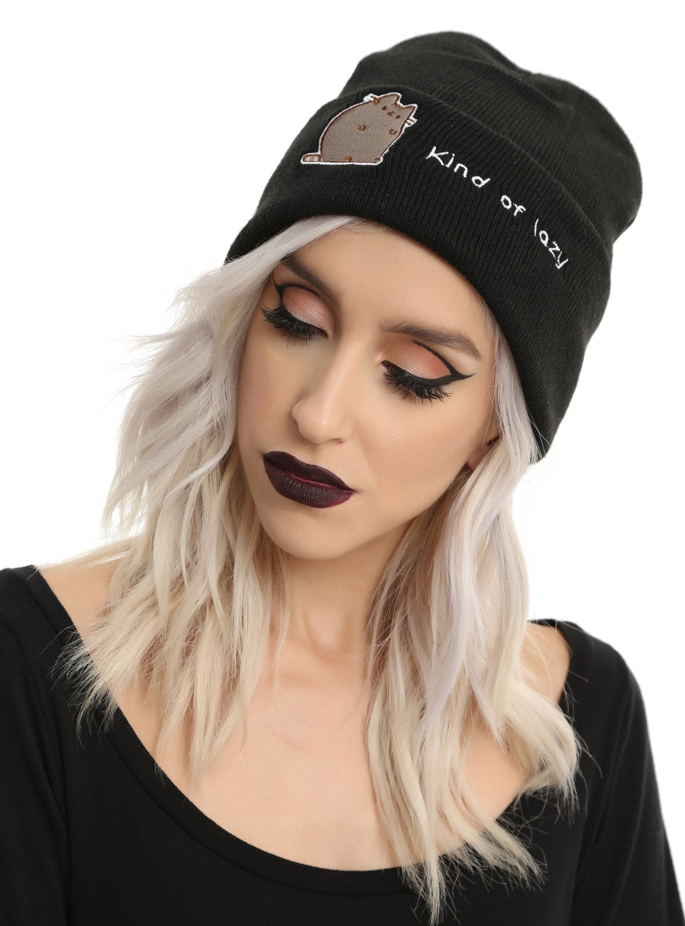 7102549e55f Pusheen Kind Of Lazy Watchman Beanie