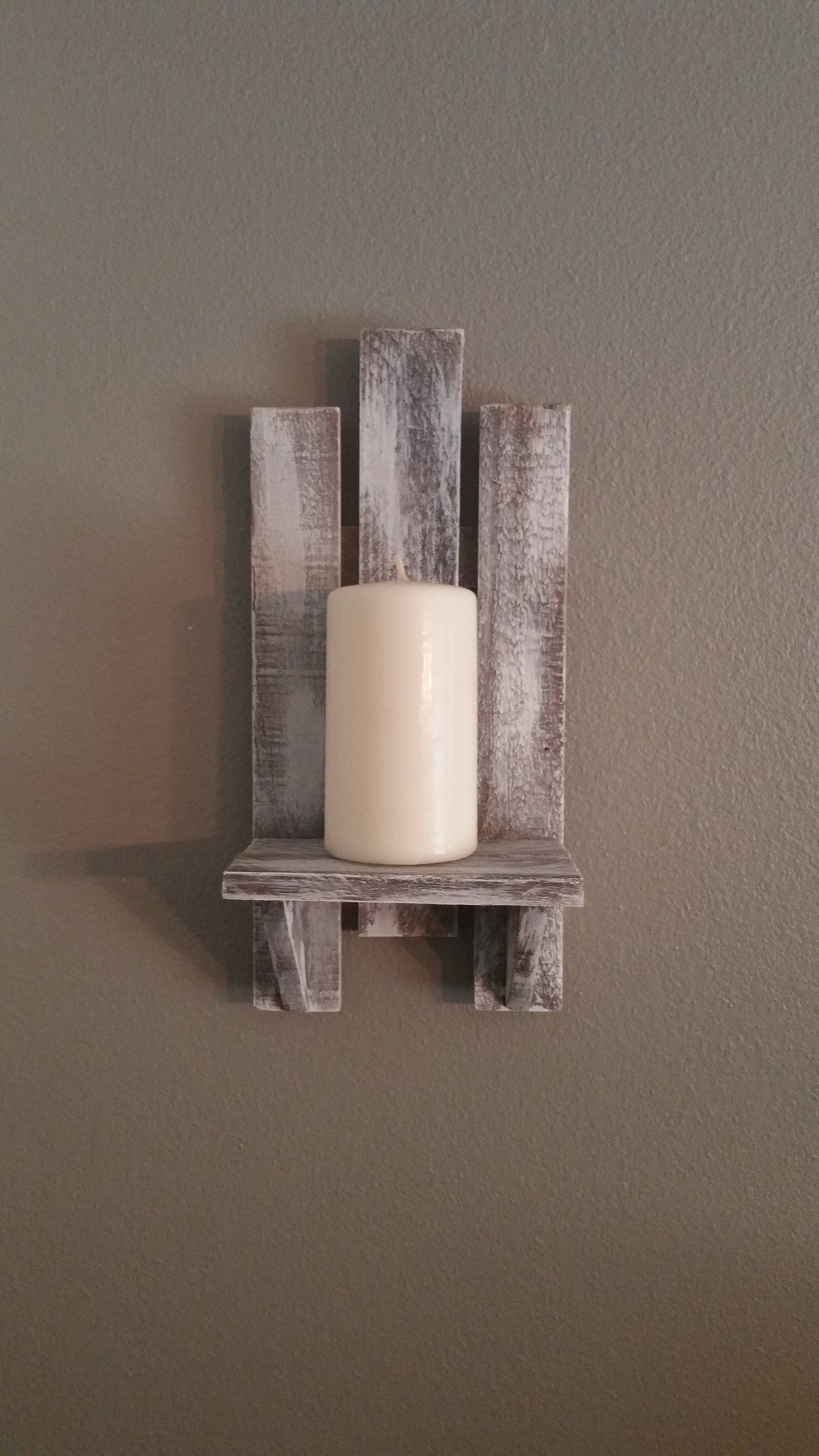 Sconces Wood White Wash Pair Handmade Reclaimed Wood Wall Etsy