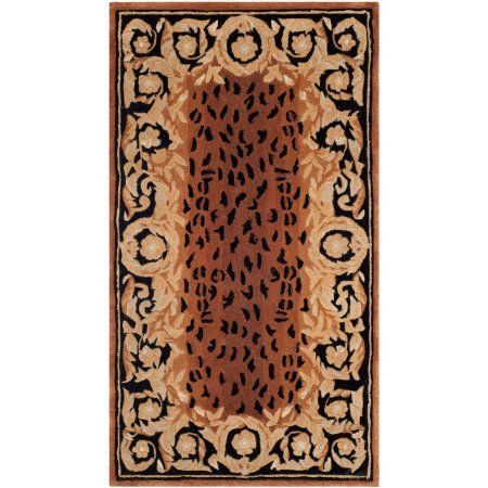 Safavieh Naples Gaman Hand Tufted Wool Area Rug, Black and Gold, Multicolor