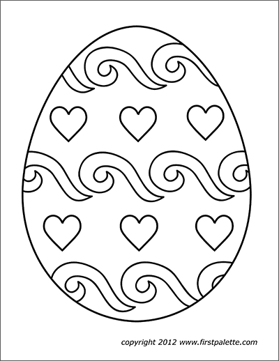 Easter Eggs Free Printable Templates Coloring Pages Firstpalette Com Coloring Easter E Easter Printables Free Easter Egg Printable Coloring Easter Eggs