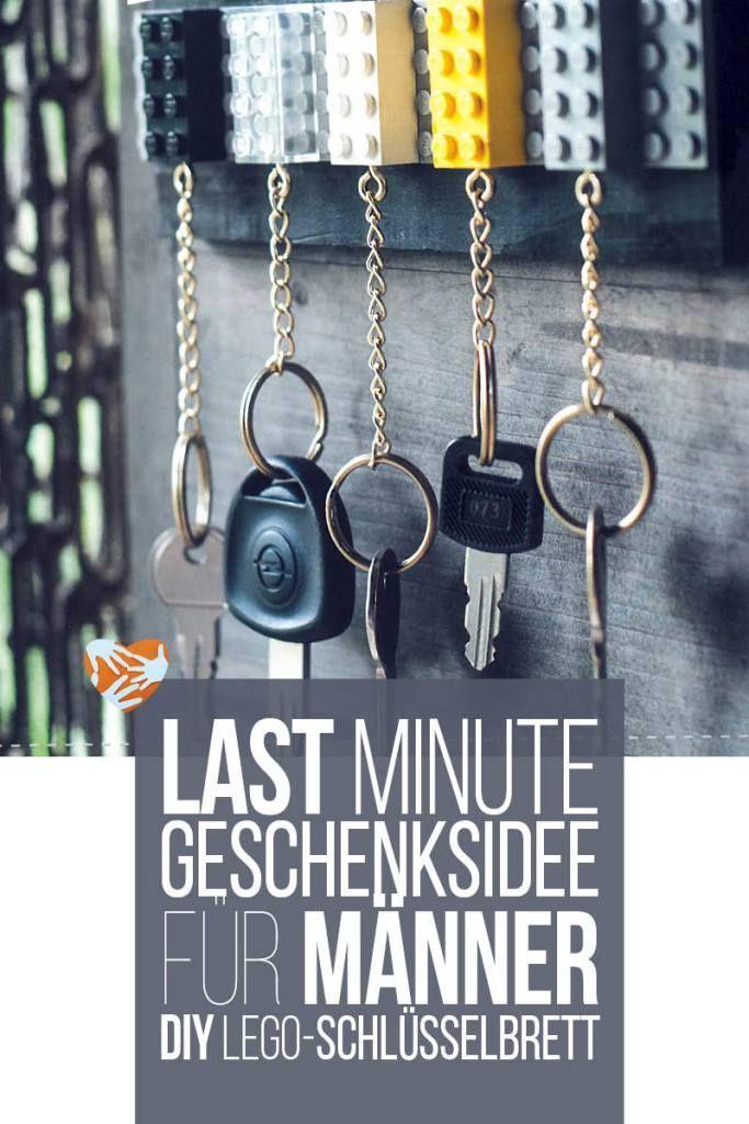Last Minute Geschenk für Männer: DIY Lego-Schlüsselbrett | Muttis Nähkästchen