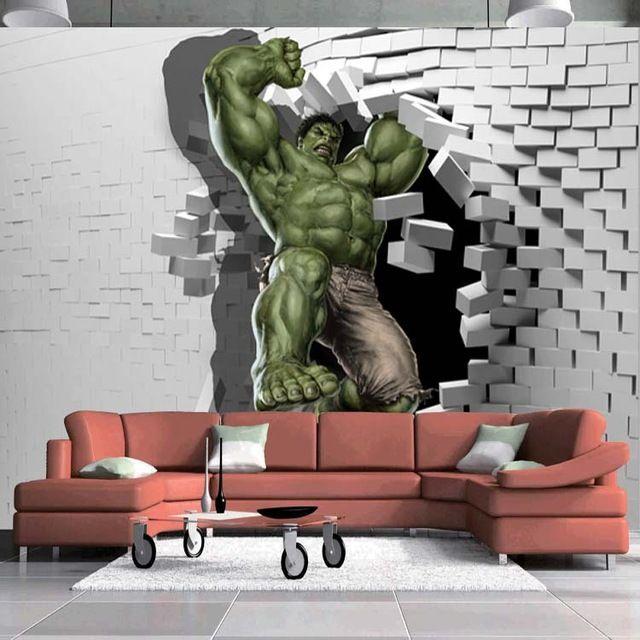 3D Avengers Hulk Custom Made Full Wall Mural