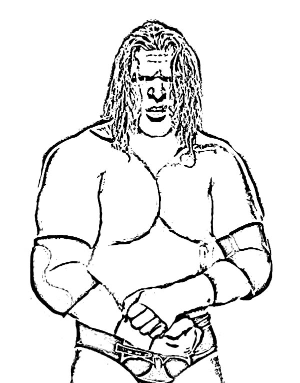 Triple H From World Wrestling Entertainment Coloring Page Color Luna Wwe Coloring Pages Football Coloring Pages Super Coloring Pages