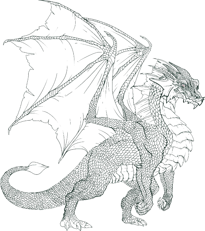 Always Wicked Dragon Coloring Pages