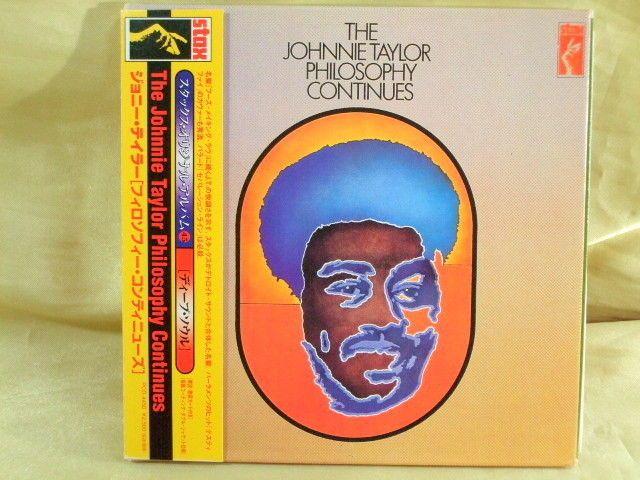 CD/Japan- JOHNNIE TAYLOR Philosophy Continues w/OBI RARE MINI-LP Gatefold Cover #FunkSoul