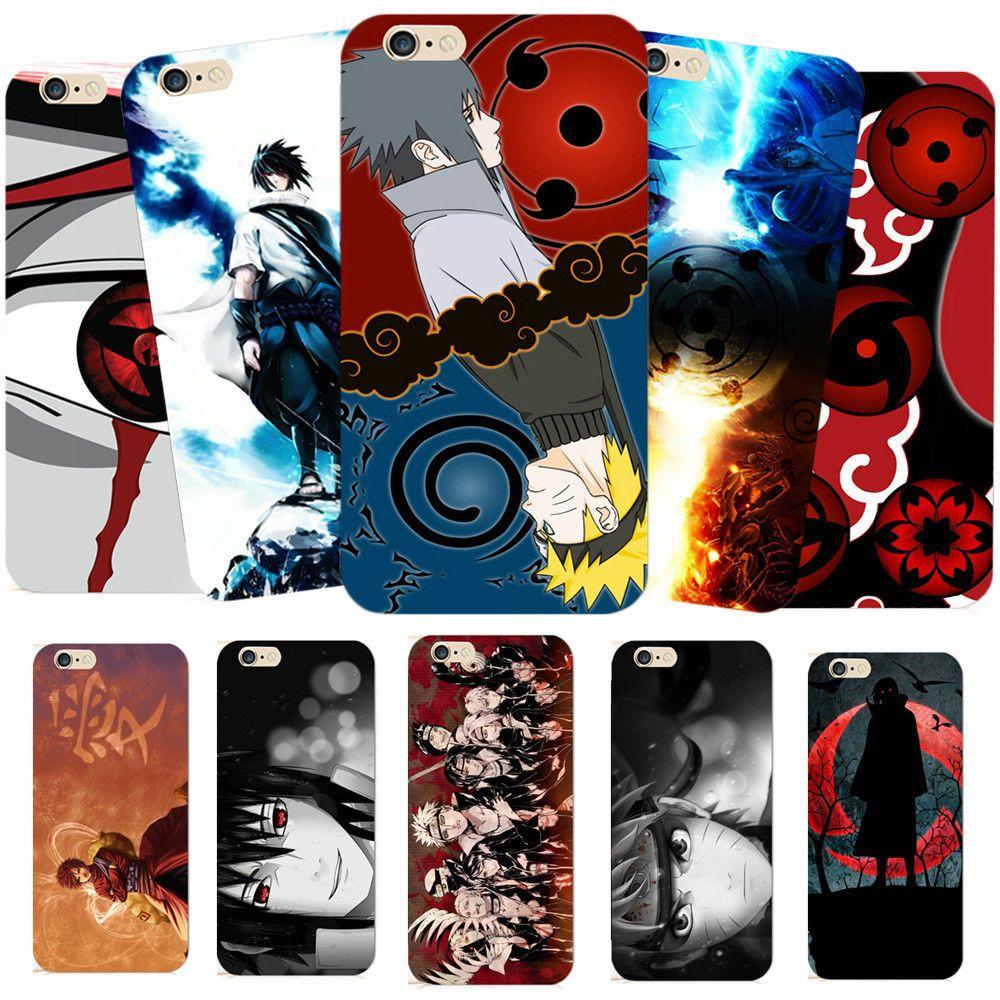 Anime Naruto Sharingan Uchiha Sasuke Hard Phone Case Cover For