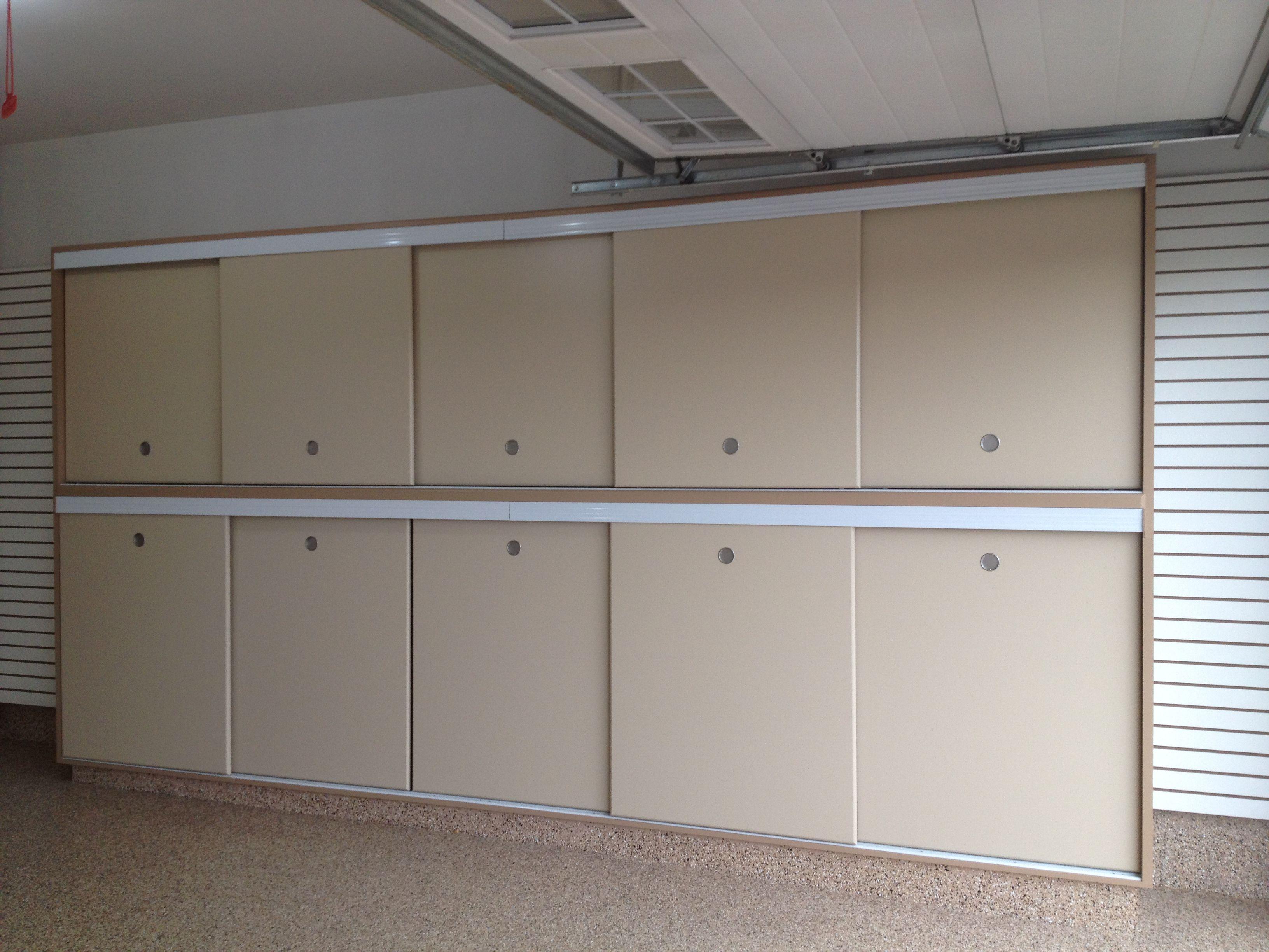 Slotwall Epoxy Floor Custom Cabinets Sliding Doors Built In