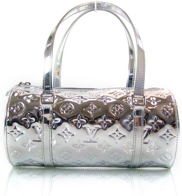 Louis Vuitton Miroir Mirror Papillon Bag Handbag Silver