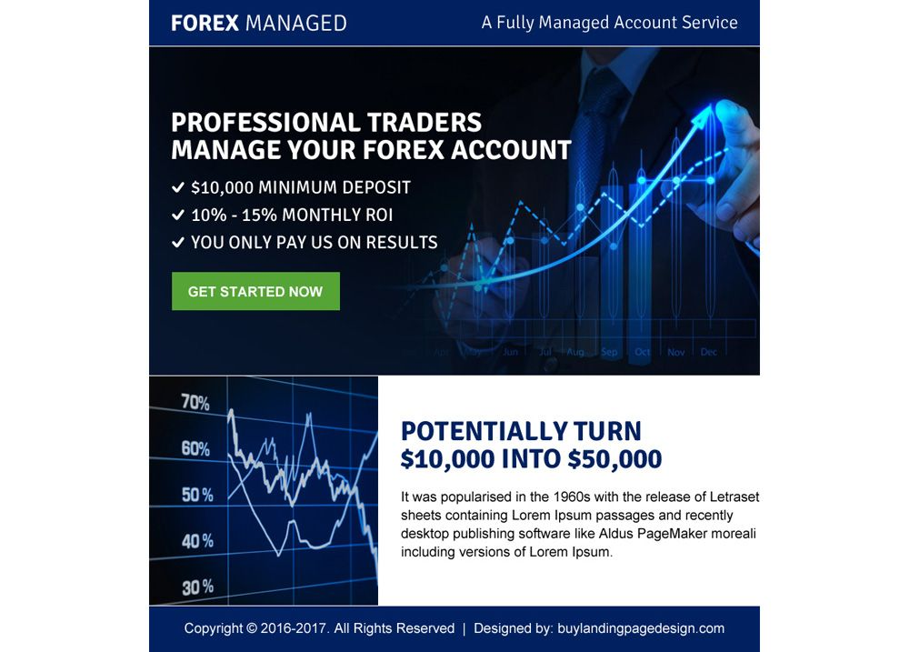 Professional Traders Call To Action Landing Page Design Page