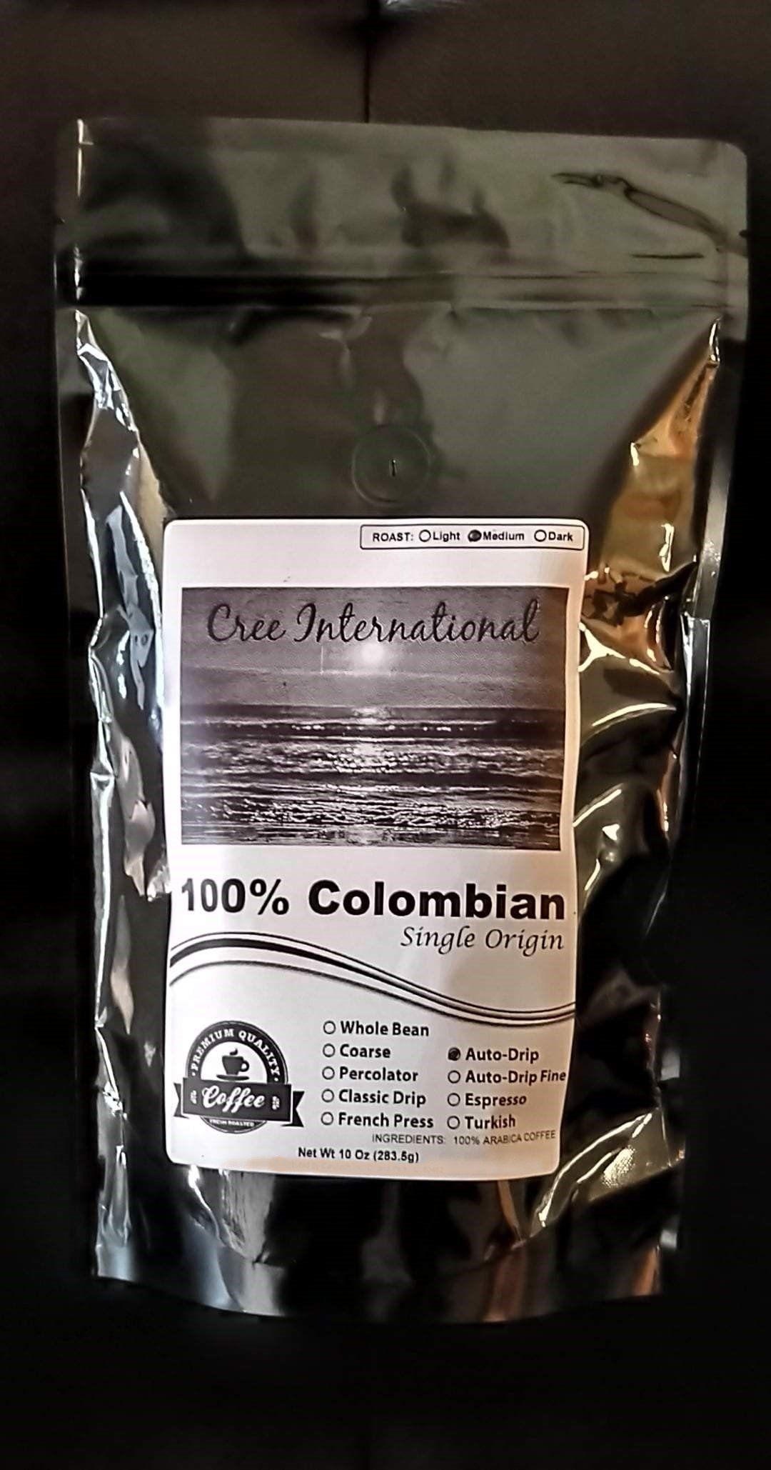 Photo of Cree International (100% Colombian) Coffee – 10oz Bag / Light / French Press