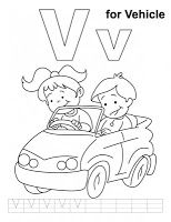 V For Vehicle Coloring Pages Alphabet Coloring Pages Alphabet Coloring Kids Handwriting Practice