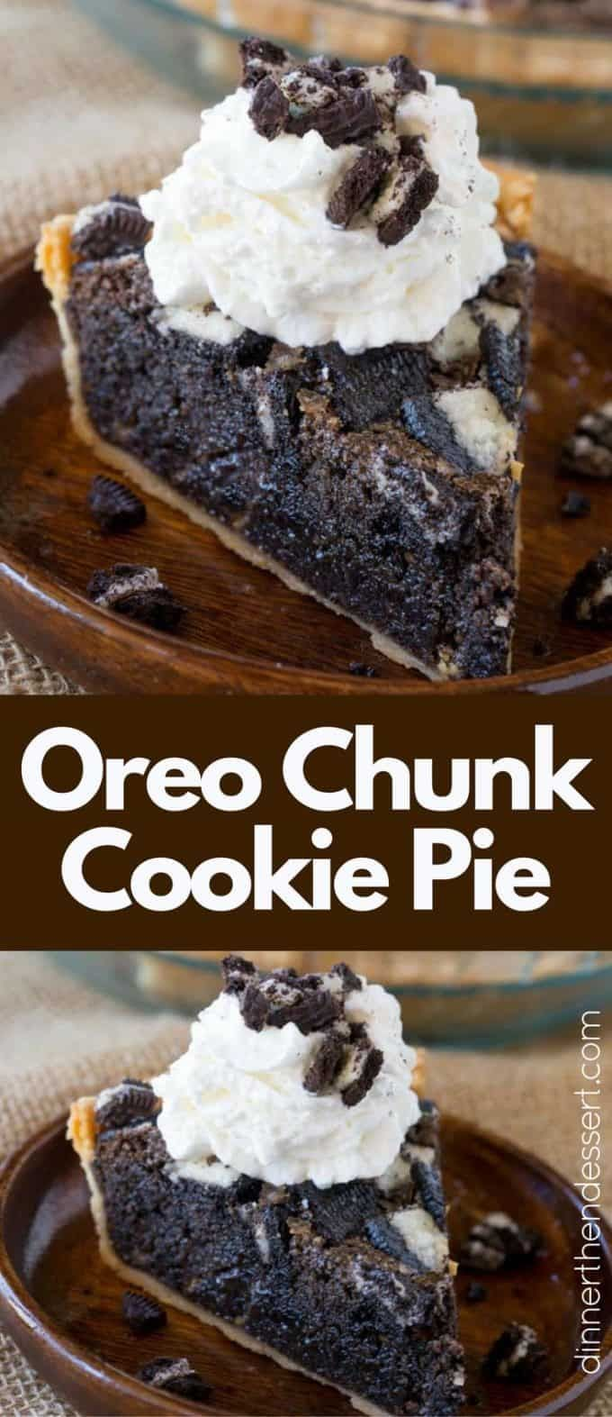The Ultimate Oreo Pie that tastes like warm Oreo cookie baked into a buttery pie crust thats half pie and half cookie served best with vanilla ice cream! Ultimate Oreo Pie that tastes like warm Oreo cookie baked into a buttery pie crust thats half pie and half cookie served best with vanilla ice cream!