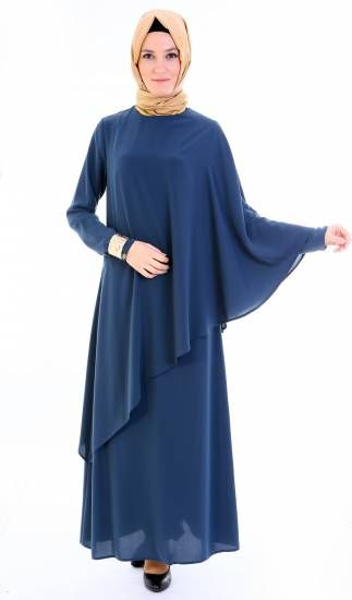 Setrms Kis Gunesi Elbise 15k379 Petrol Hijab Fashion Muslim Fashion Muslimah Dress