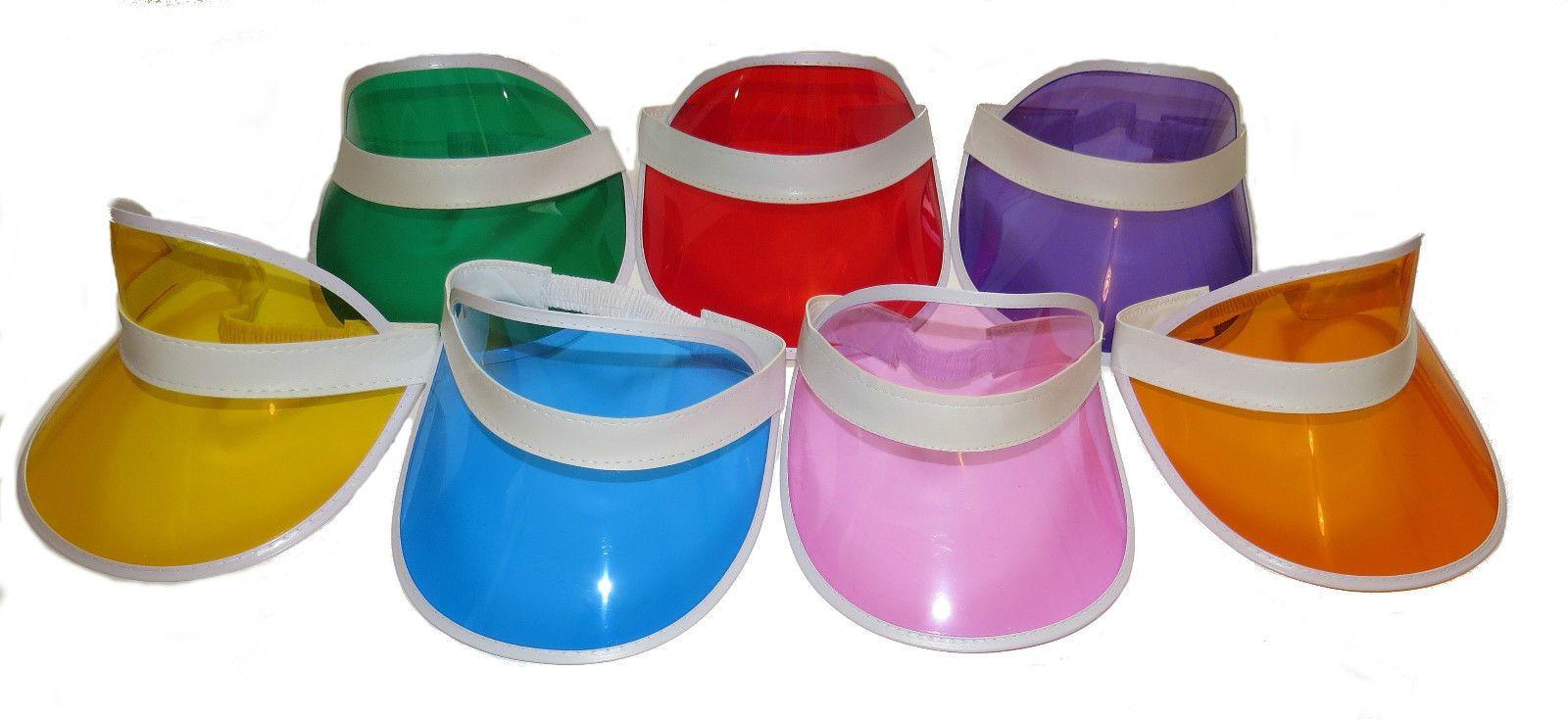 new   x30 plastic sun  visors  fancy  dress  visor 79e8c10abc9