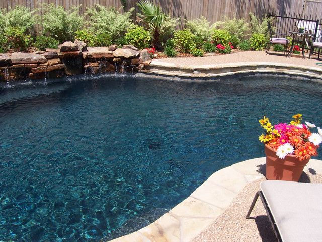Dark pool water Fibreglass Pool Great Dark Blue Color Pinterest Pool Great Dark Blue Color Outdoor Spaces Pinterest Pool