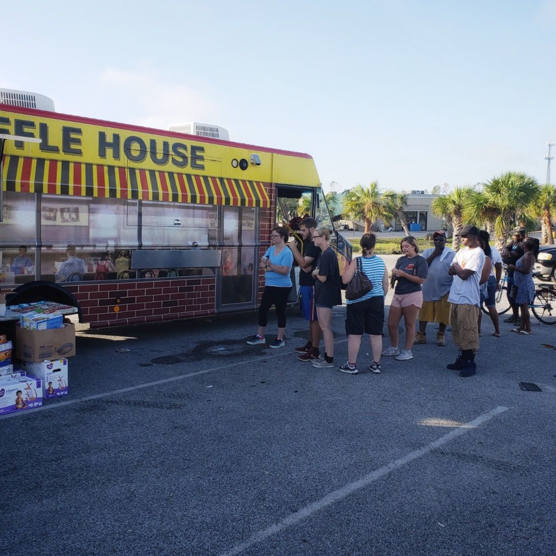 The Waffle House Food Truck Serving In Panama City After Hurricane
