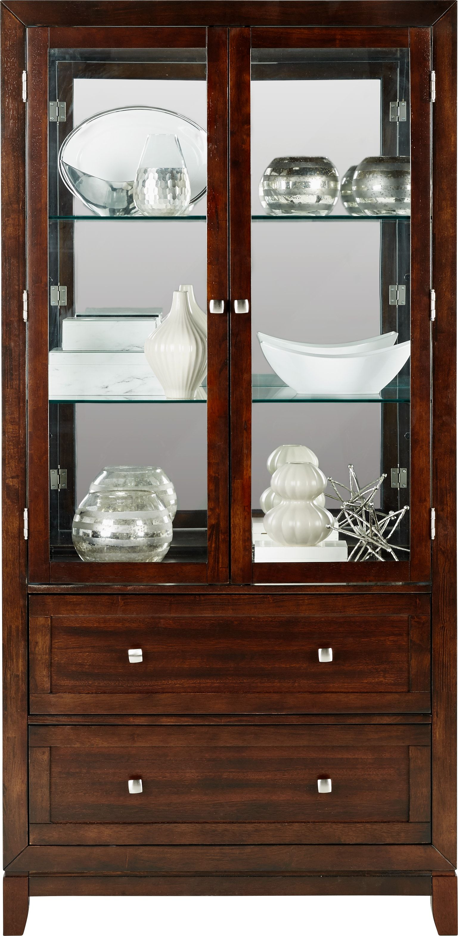 Riverdale Cherry Curio China Cabinet Decor Rooms To Go Classic Dining Room