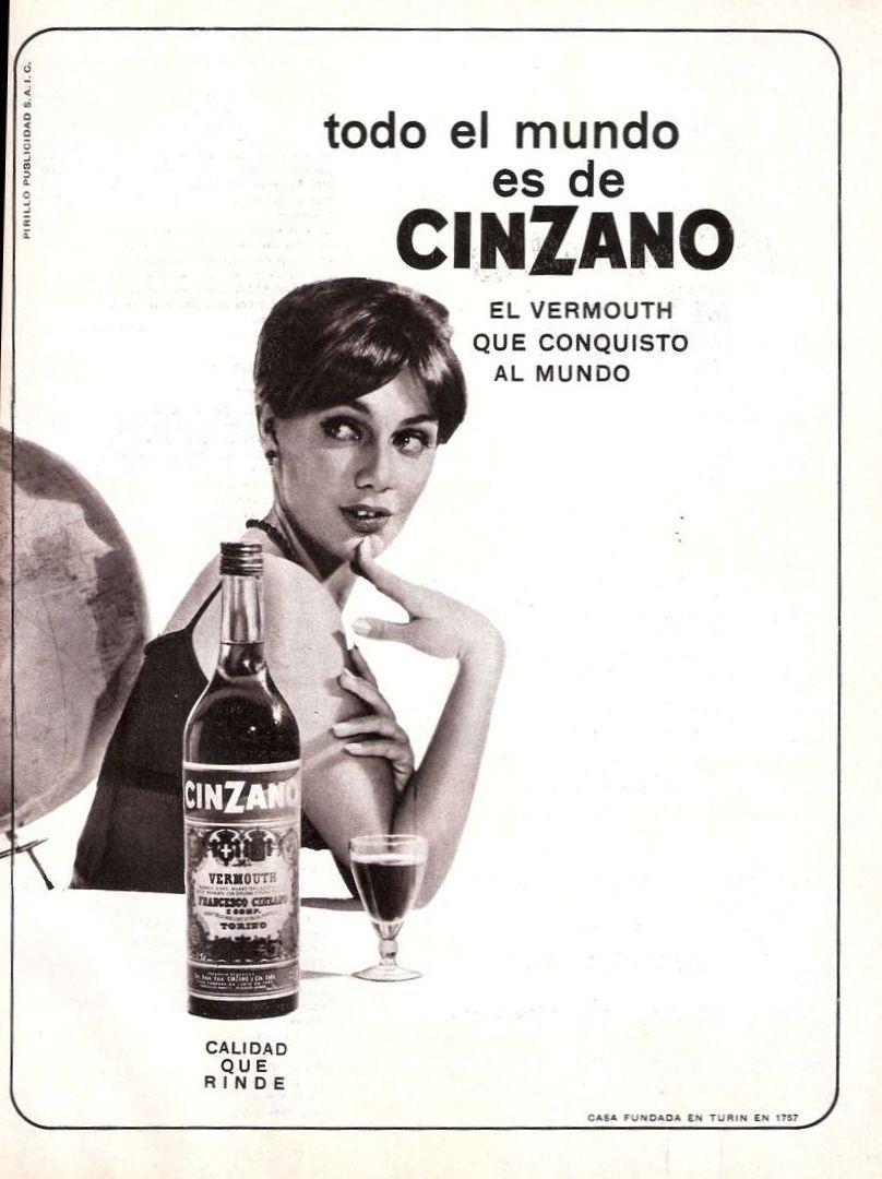Vermouth Cinzano, años 60 | Carteles antiguos de publicidad- Vintage ...