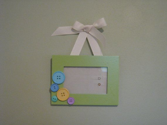 Ribbon Hung Picture Frame For Baby 3 12 X 5 Products I Love