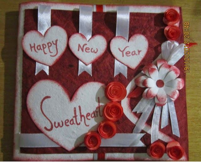 6 handmade new year cards most amazing collection 6