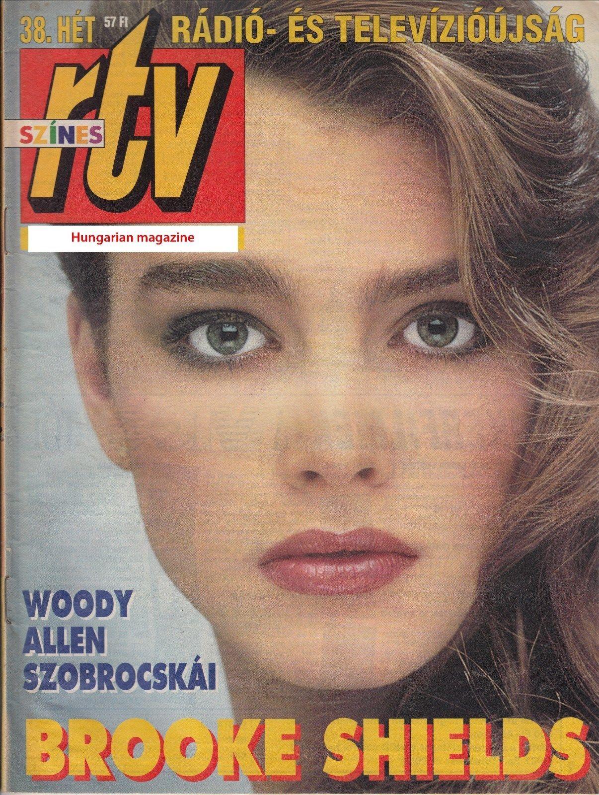 Brooke Shields covers RTV (Hungary), circa 1994.