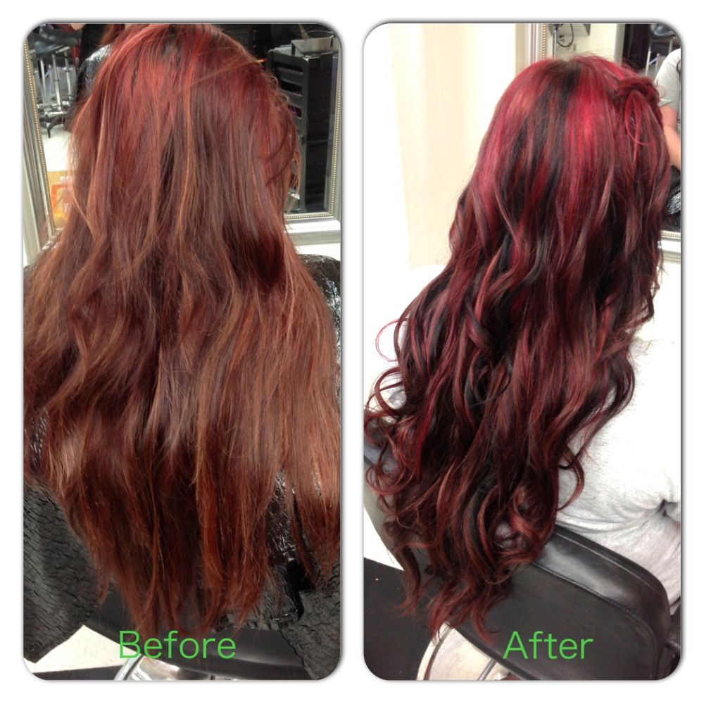Faded Hair From Previous Red Highlights Transformed Into Vibrant