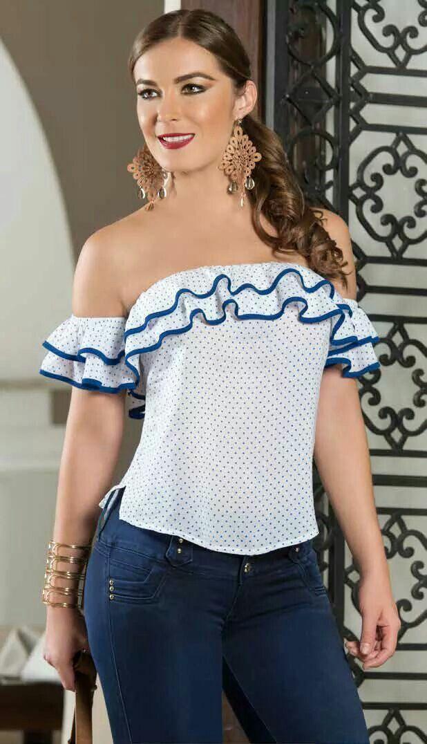 48d569056 Blusas moda | hechuras | Blusas, Blusas juveniles moda y Blusas de moda