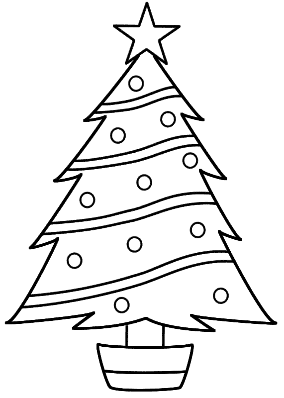 Christmas Tree Coloring Page Christmas Christmas Tree Coloring Page Christmas Tree Printable Christmas Tree Template