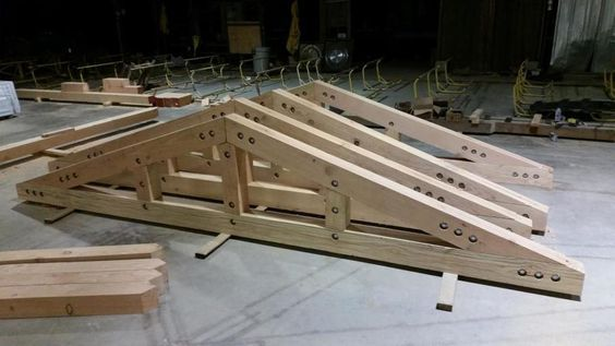 Structural 6x8 Timber Truss With Knife Plate And Countersunk Bolts Santa Barbara Ca Timber Frame Construction Timber Framing Timber Architecture