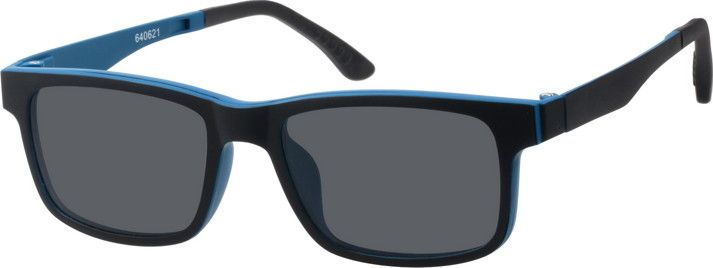 Rectangle Glasses with Magnetic Snap-On Shades