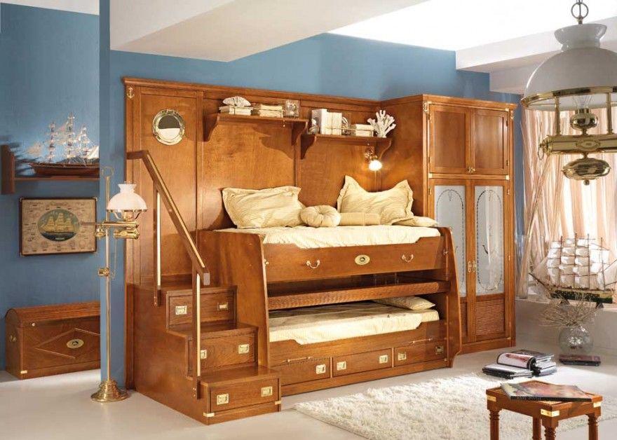 Superior Brillisnt Kids Furniture Bunk Bed Wooden Bunk Bed Small Space Optimization  Design
