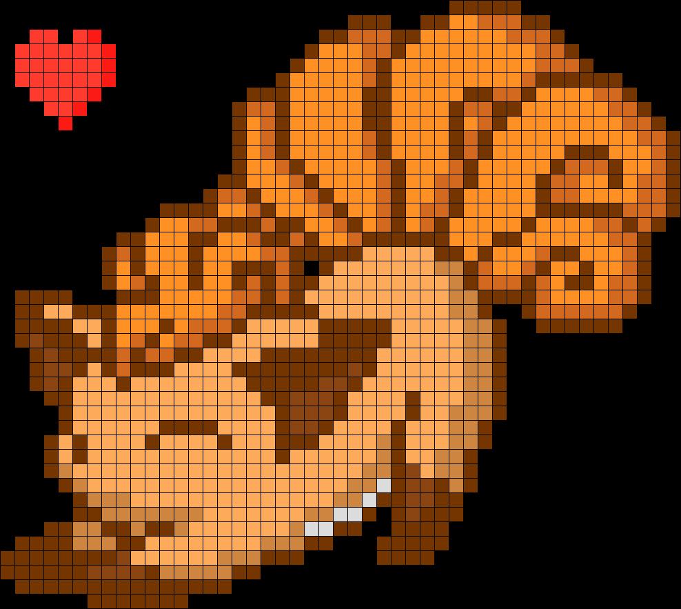 Cutie Vulpix Kandi Pattern Pokemon Cross Stitch Pixel Art Pokemon Minecraft Pixel Art