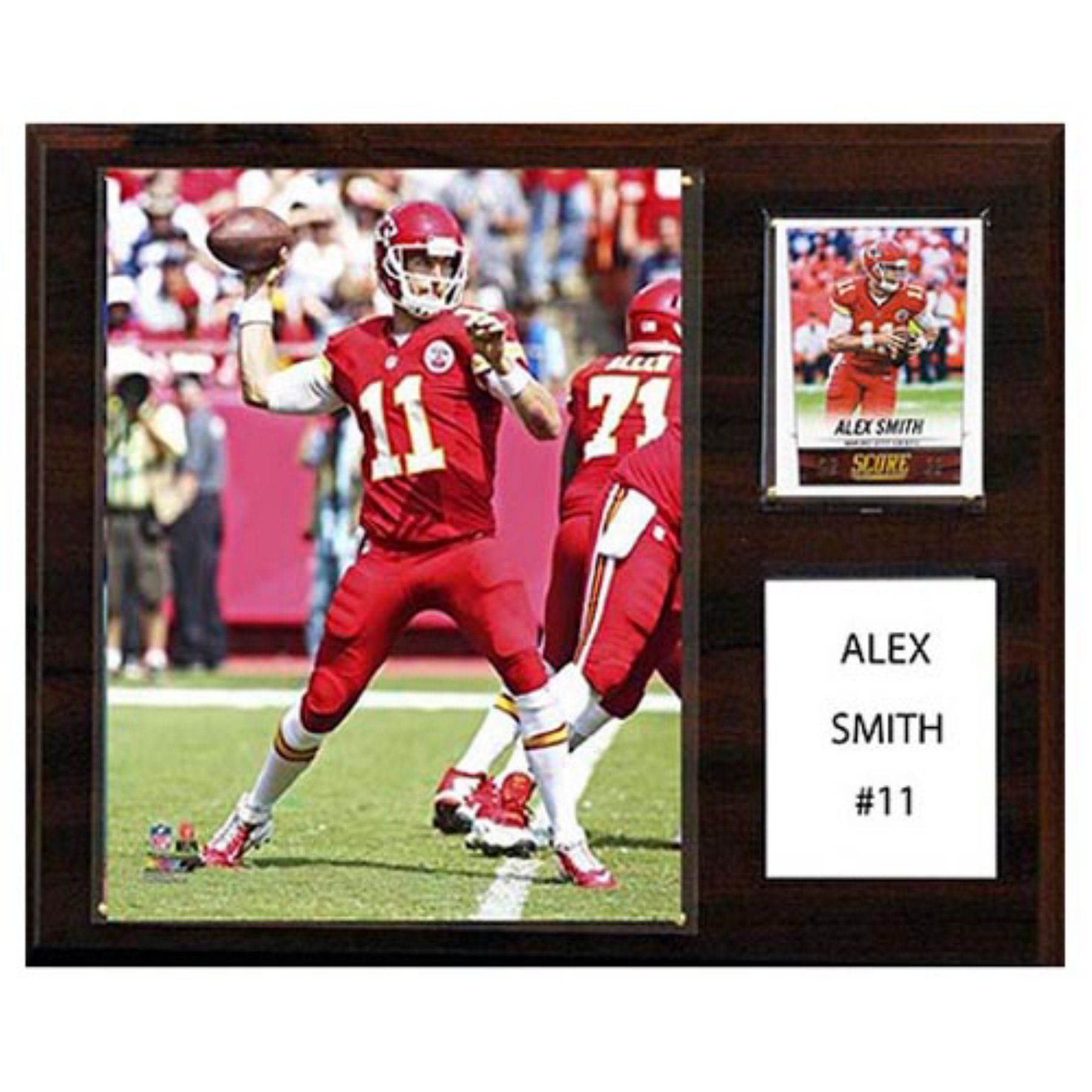 C and I Collectables NFL 15W x 12H in. Alex Smith Kansas City Chiefs Player Plaque - 1215ASMITHKC