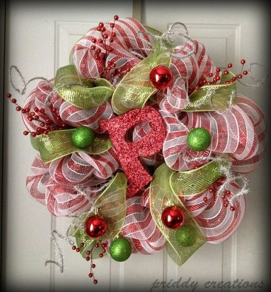deco mesh wreath Christmas! Pinterest Deco mesh and Wreaths