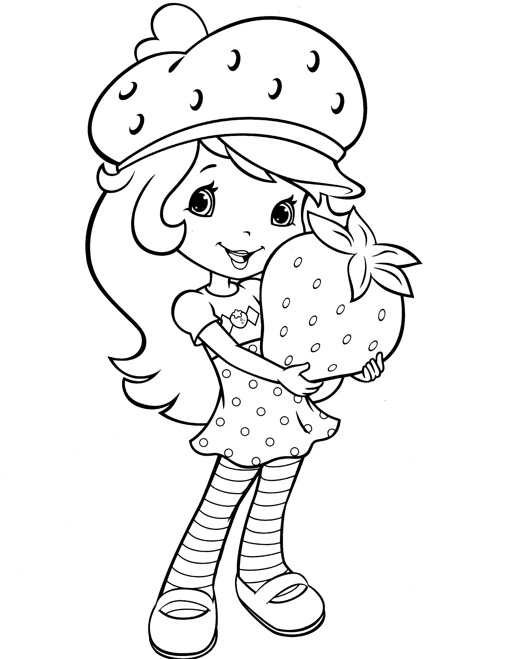 strawberry shortcake coloring page | colores América | Pinterest ...