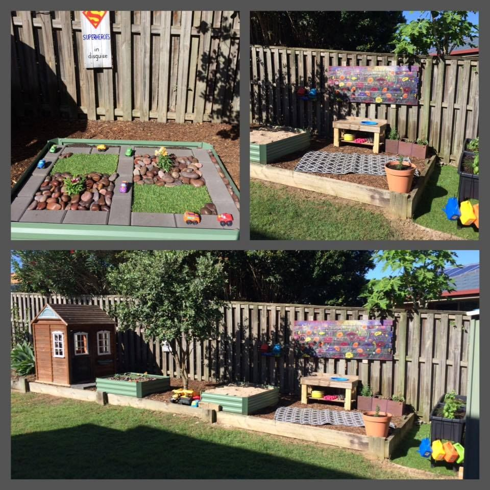 a huge collection of ideas for creative outdoor play areas shared