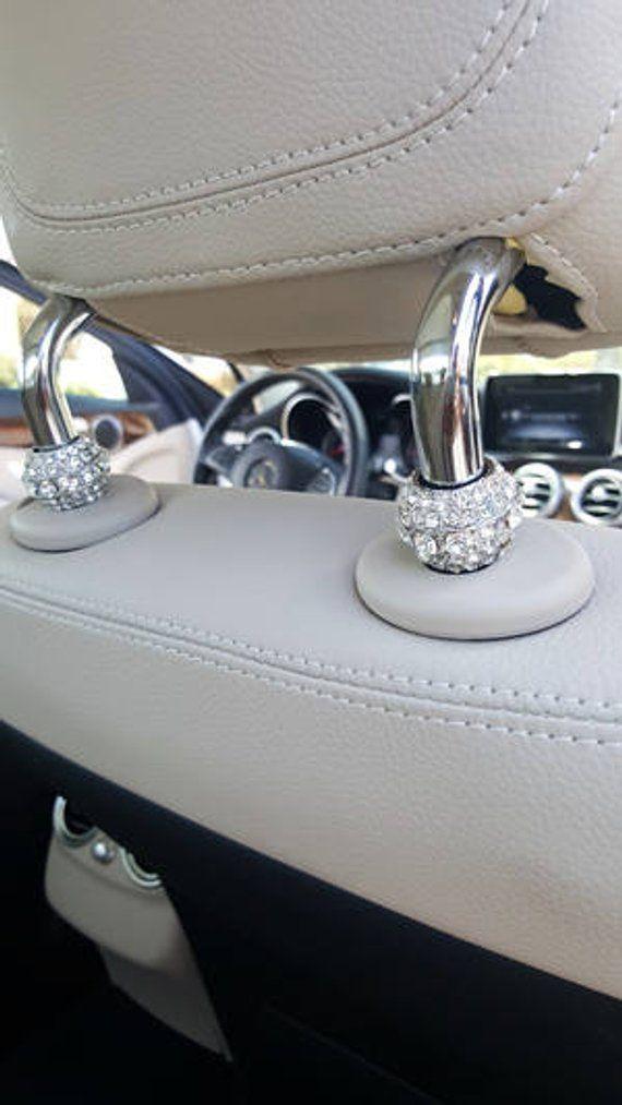 Crystal Car Seat Headrest Collar Charms Rhinestone Car   Etsy